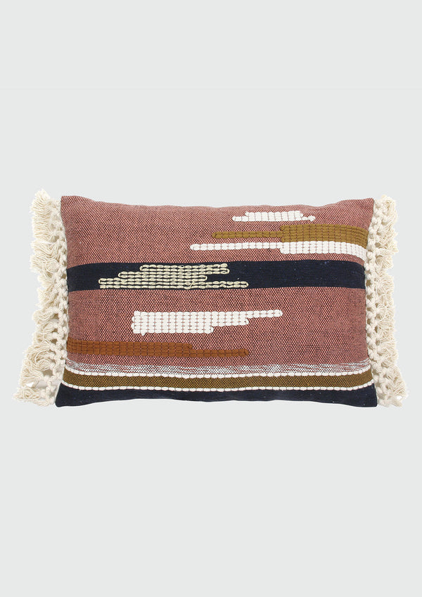 Aztec Inspired Woven Cushion Pillow with Tassels
