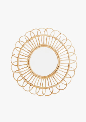 Bamboo Circle Round Statement Mirror