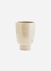 Artist Rustic Clay Planter Vase in Beige