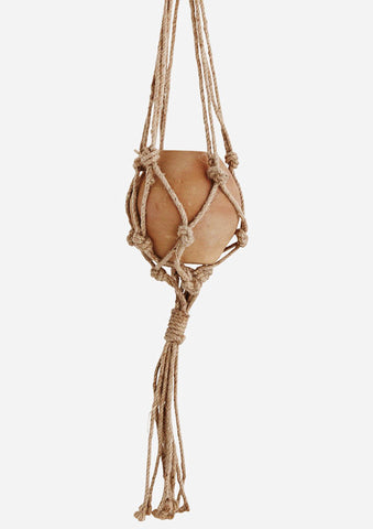 Hanging Clay Pot with Jute Macrame Rope