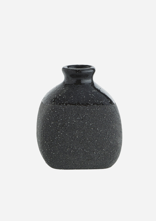 Small Two-Tone Charcoal Bud Vase