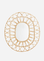 Bamboo Oval Statement Mirror