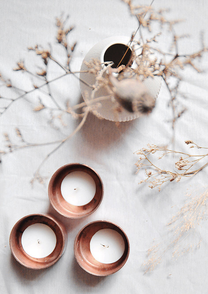 Copper Pot Tea Light Holder