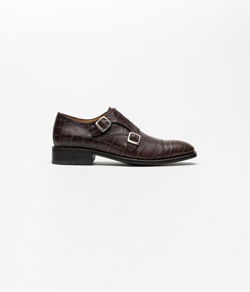 Monkstrap Brown Croco