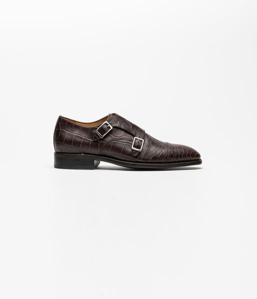 Monkstrap Brown Croco II