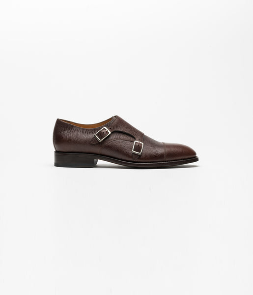 Monkstrap Pebble Grain Brown