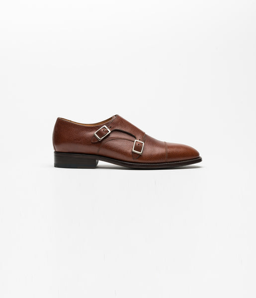 Monkstrap Pebble Grain Cognac