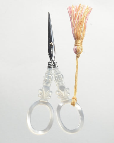 Sajou Scissors, Mother of Pearl Scissors - Cross Model, Needles and Things