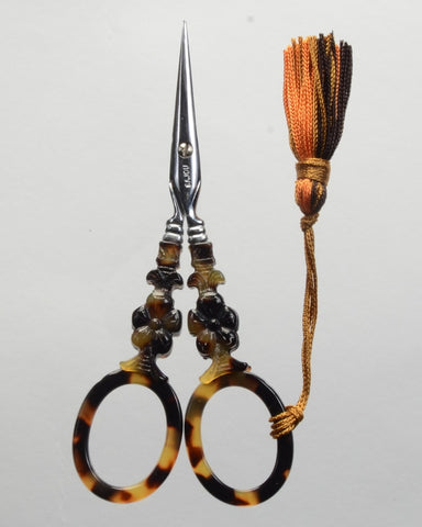 Sajou Scissors, Tortoiseshell Scissors - Flower Model, Needles and Things