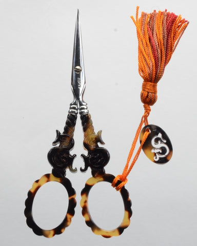 "Sajou Scissors, Tortoiseshell Scissor ""S"" motif, Needles and Things"