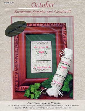 Lorri Birmingham Designs, October Birthstone (w/charm), Needles and Things