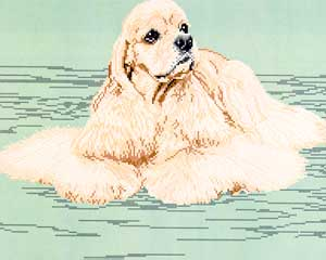 Brenda Franklin Designs, American Cocker Spaniel-Blonde (Body), Needles and Things