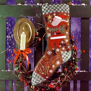 Birds Of A Feather, Wish Upon A Star Christmas Stocking, Needles and Things