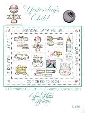 Sue Hillis Designs, Yesterday's Child (w/charms), Needles and Things