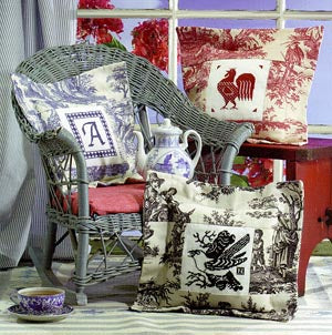 Birds Of A Feather, Toile Pillows, Needles and Things