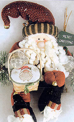 Lorri Birmingham Designs, Gift Basket Santa, Needles and Things