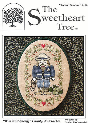 Sweetheart Tree The, Wild West Sheriff Chubby Nutcracker (w/charm), Needles and Things