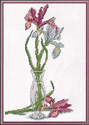 Kappie Originals, Iris In A Vase, Needles and Things