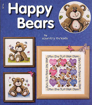 Jeanette Crews Designs, Happy Bears, Needles and Things