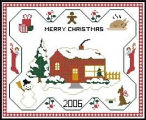Kappie Originals, Merry Christmas Sampler, Needles and Things