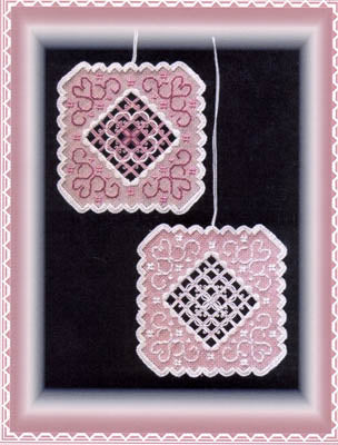 Stitch In Time Designs A, Pretty In Pink Ornament II, Needles and Things
