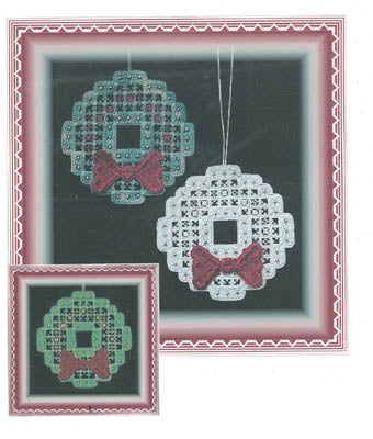 Stitch In Time Designs A, Hardanger Christmas Wreath (w/beads), Needles and Things