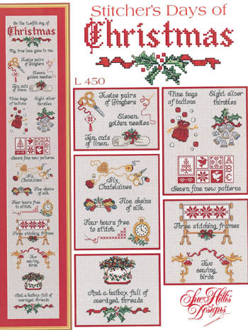 Sue Hillis Designs, Stitcher's Days Of Christmas, Needles and Things