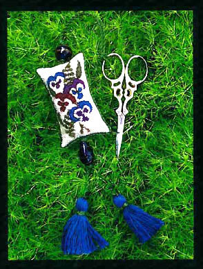 Cedar Hill Designs, Pansy Scissor Fob, Needles and Things