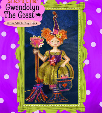 Brooke's Books Publishing, Stitch-A-Little Gwendolyn TheGreat (chart only), Needles and Things