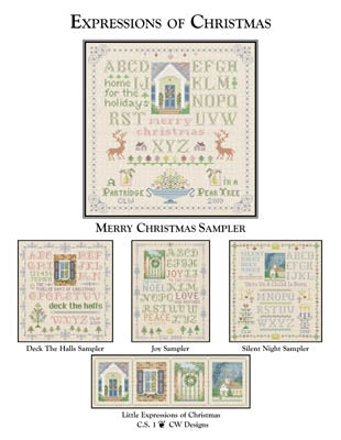 CW Designs, Merry Christmas Sampler, Needles and Things