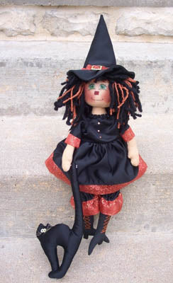 Raggedy Pants, Hilda The Witch (Rag Doll Pattern), Needles and Things