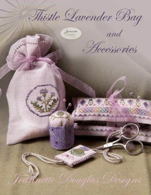 Jeannette Douglas Designs, Thistle Lavender Bag, Needles and Things