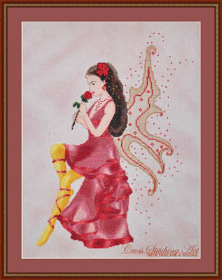 Cross Stitching Art, Rose Fairy, Needles and Things