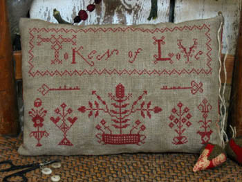 Pineberry Lane, Token Of Love Redwork Sampler, Needles and Things