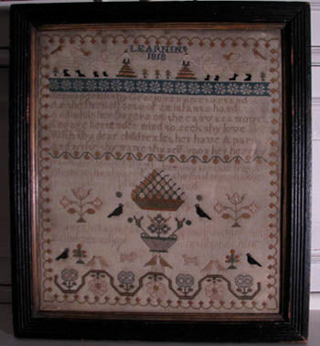 Black Branch Needlework, Susannah Rayment-Learning 1818Sampler, Needles and Things