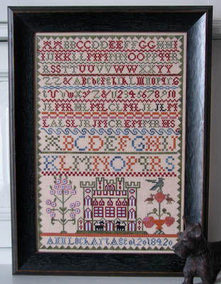 Black Branch Needlework, Ann Lockart Sampler, Needles and Things
