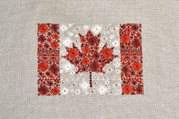 Cherry Lane Designs, Starburst Flag Of Canada, Needles and Things