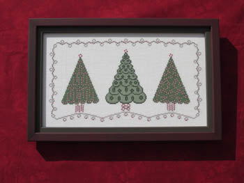 Annalee Waite Designs, Three Christmas Trees, Needles and Things