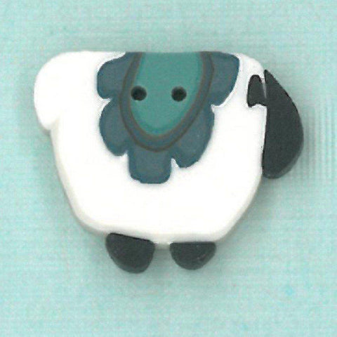 Just Another Button Company, wooly blue blanket sheep, Needles and Things
