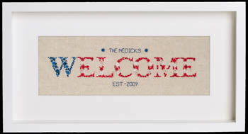 Cherry Lane Designs, Starburst Patriotic Welcome, Needles and Things
