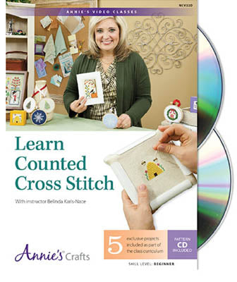 Annie's, Learn Counted Cross Stitch DVD, Needles and Things