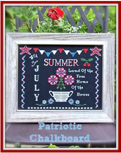 Lindsay Lane Designs, Patriotic Chalkboard, Needles and Things