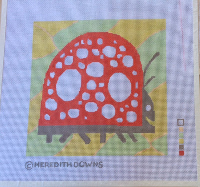 Meredith Downs, Ladybug (Painted Canvas), Needles and Things
