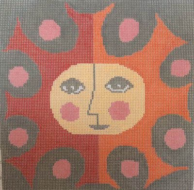 Meredith Downs, Star Sunface (Painted Canvas), Needles and Things