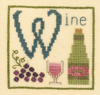 Elizabeth's Designs, W Is For Wine, Needles and Things