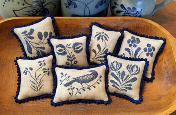 Priscilla's Pocket, Stoneware Pinpillows II, Needles and Things