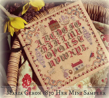 Lindsay Lane Designs, Maria Ceron-1830 Her Mini Sampler, Needles and Things