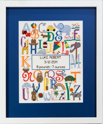Cherry Lane Designs, Bright Alphabet Birth Announcement, Needles and Things