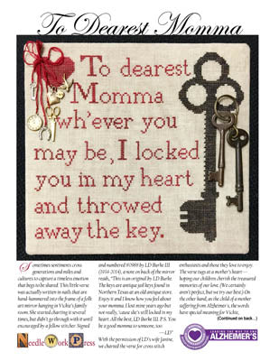Needle WorkPress, To Dearest Momma, Needles and Things