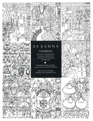 Amy Bruecken Designs, Seasons - Colorbook (8 Pages), Needles and Things